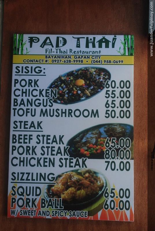 PAD Thai Fil Thai Restaurant in Gapan, Nueva Ecija
