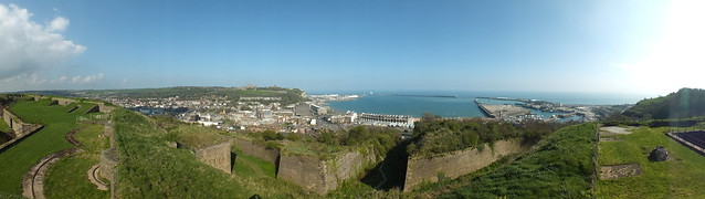 Dover from the Drop Redoubt, Western Heights