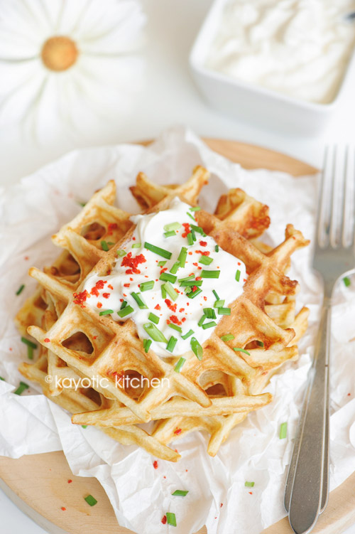 Potato & Cheddar Waffles