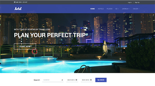 JA Hotel v1.0.3 - Responsive Hotel and Travel  Joomla 3 template