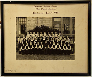 Christchurch Primary Schools Music Fest. Assn Centennial Choir 1950