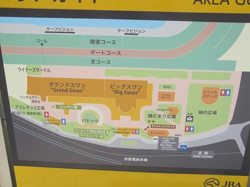 京都競馬場の場内マップ