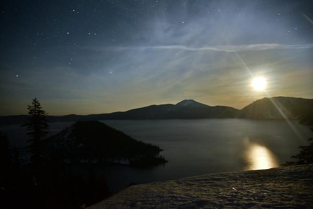 Crater Lake at Moonrise