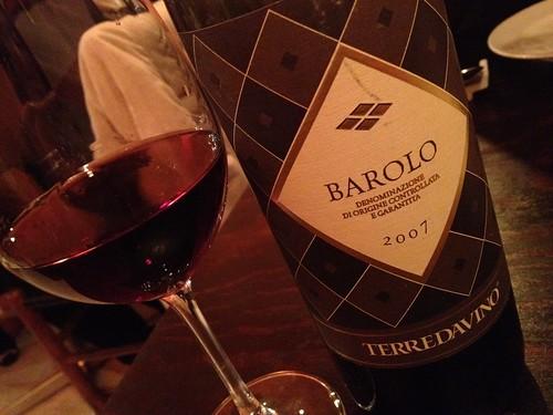 ワインの王様、バローロ4000円@三郎酒場 恵比寿