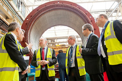 Charles Hendry at GE Energy in Rugby