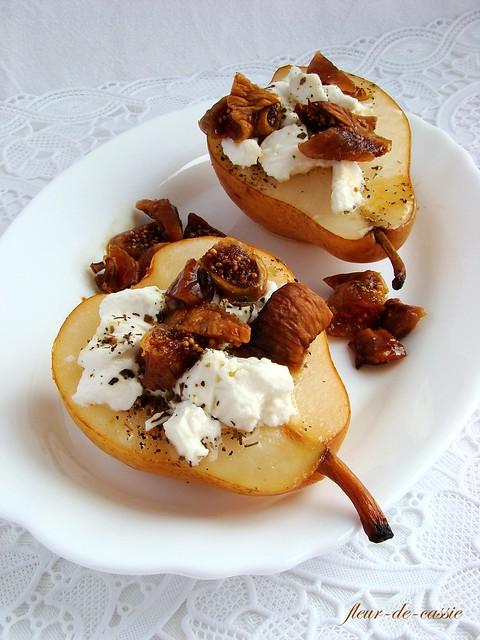 груши запеченные с фетой и инжиром 1