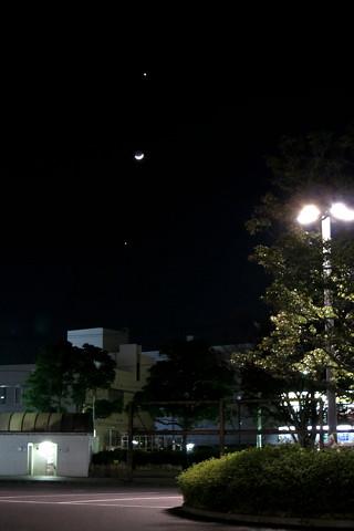 今日も金星・月・木星