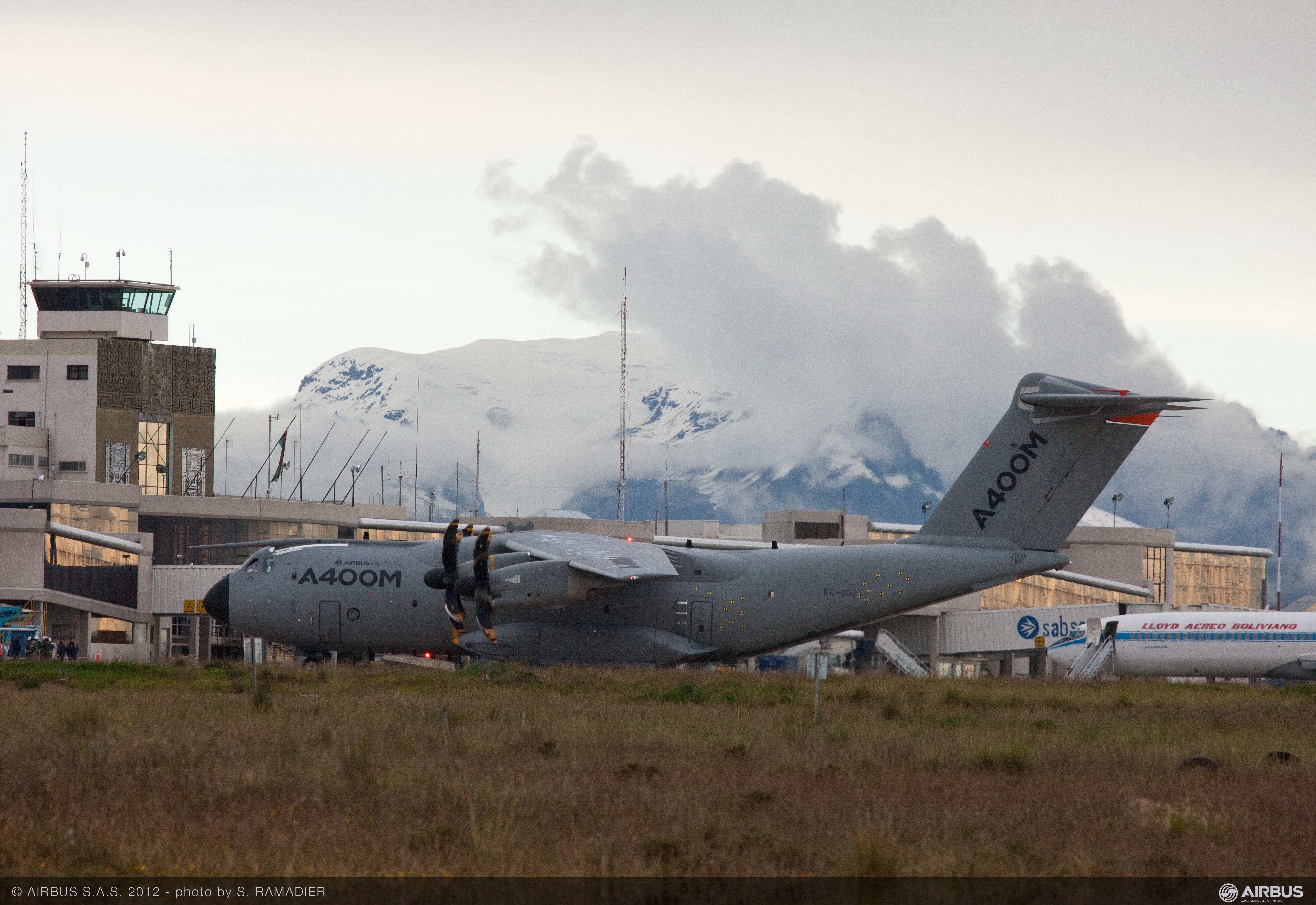 A400M en La Paz