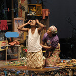 Carla Duren (Sophie) and Zainab Jah (Josephine) in the Huntington's production of Lynn Nottage's RUINED, a co-production with La Jolla Playhouse and Berkeley Repertory Theatre directed by Liesl Tommy, Jan. 7 — Feb. 6, 2011 at the Avenue of the Arts / BU Theatre. Photo: Kevin Berne