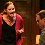 Neasa (Nicole Wiesner) is frustrated by her crumbling marriage to Ian (Jay Whittaker) in the Huntington Theatre Company's production of Shining City, written by Conor McPherson and directed by Robert Falls. Part of the 2007-2008 season.