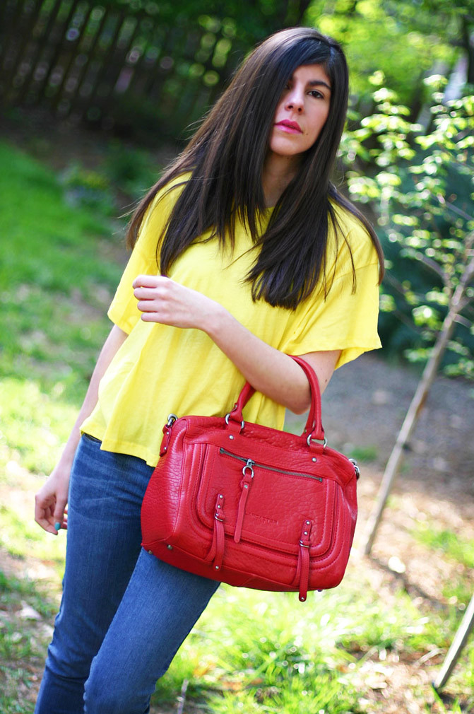 LNA T Shirt, Lancaster bag, Skinny jeans, Fashion, Haircut