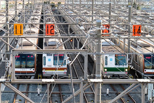 東京メトロ千代田線 6000系 6107F 構内試運転