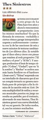 Thes Siniestros reseña ROlling Stone (Arg) Marzo 2012