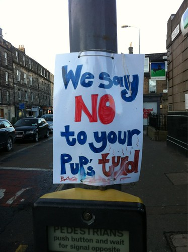 We Say No To Your Pups Turd