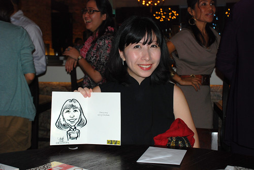 caricature live sketching for DVB Christmas party - 6