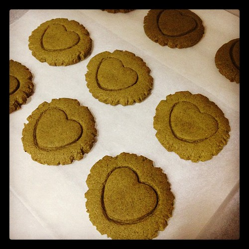 I've got the love~~~ matcha cookies! success!! :)
