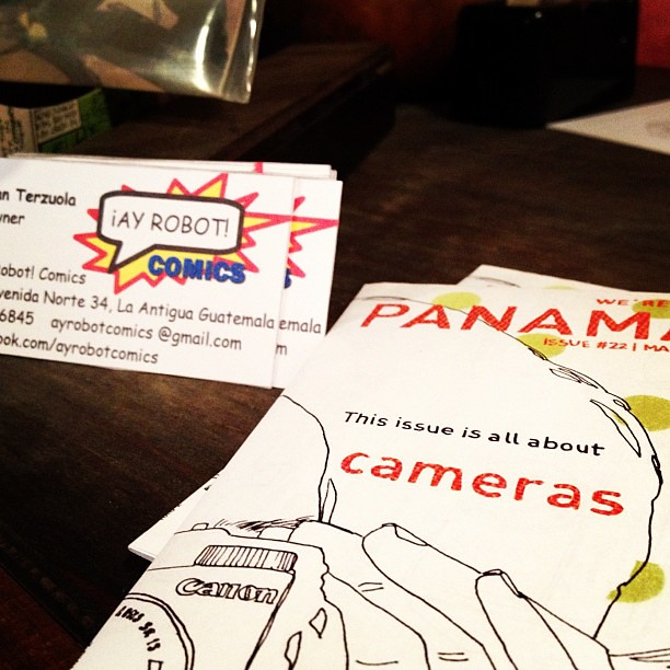 """we're in Panama!"" now at Ay Robot! in la Antigua Guatemala. #zine"