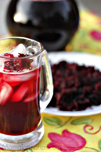 Agua de Jamaica Hibiscus Flower Drink