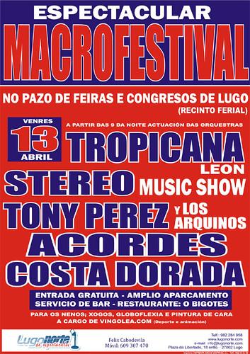 Lugo 2012 - Macrofestival de orquestras de Lugonorte - cartel