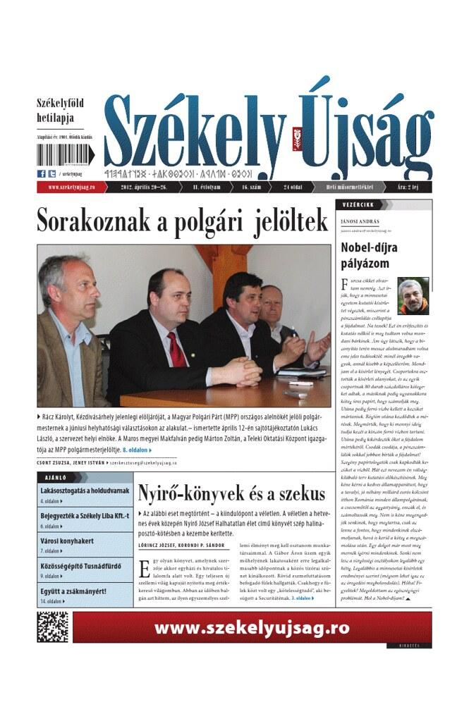Székely Újság, április 20.
