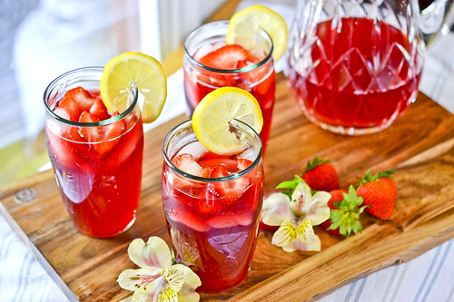 Strawberry Hibiscus Tea Lemonade