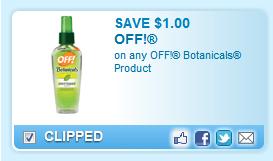 Off! Botanicals Product Coupon