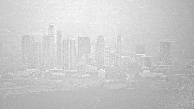 LA thru a thick layer of smog
