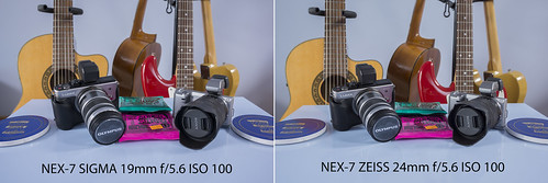 Comparison between SIGMA 19mm f/2.8 and ZEISS 24mm f/1.8 SONY NEX-7 @ f/5.6