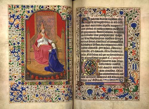 012-Coronacion de la Virgen-Fol. 85 verso-Heures d'Isabeau de Roubaix- Bibliothèque numérique de Roubaix  MS 6