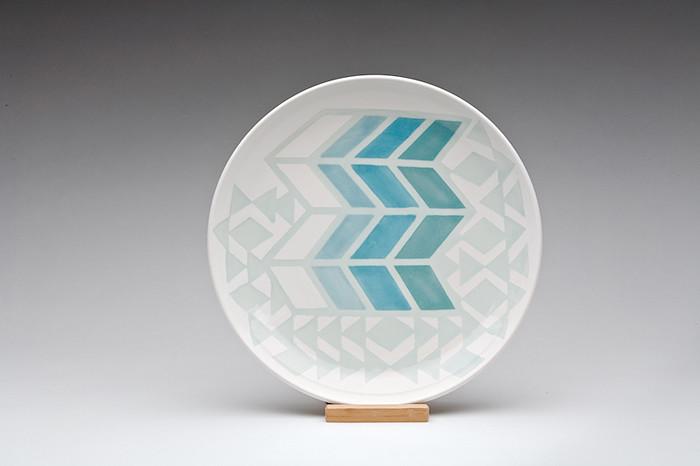 dahlhaus herringbone triangle platter