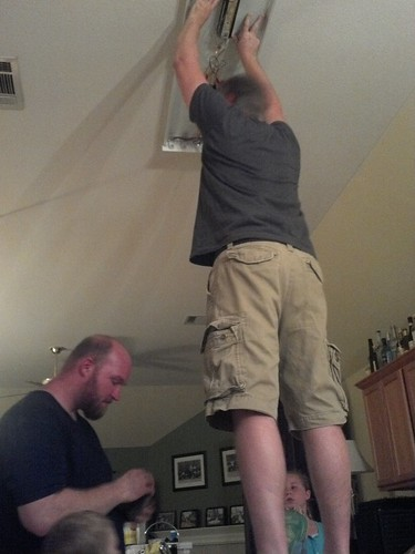 Fixing the kitchen light