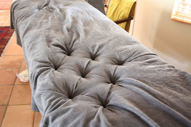 DIY Button Tufted Headboard