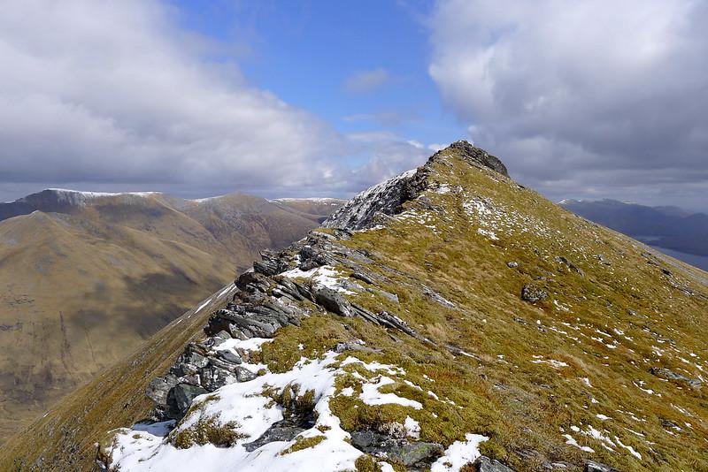 Final ridge to Lurg Mhor's east top