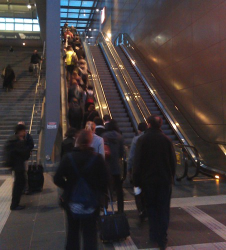 POTD: Escalators going in the wrong direction for peak hour