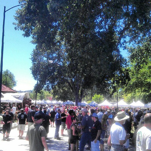 Crowd at Firestone Walker Invitational Beer Fest at Paso Robles California Mid-State Fairgrounds