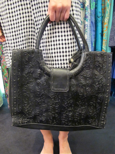 Black hand-tooled bag from the US of A!