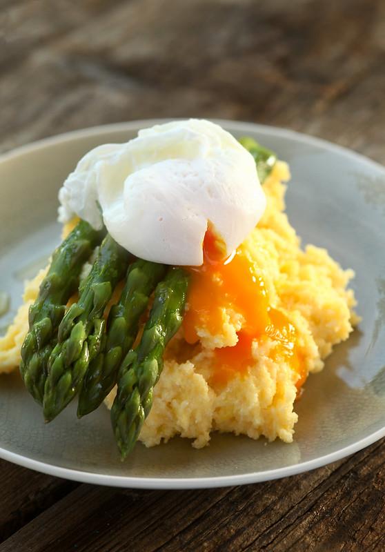 polenta asparagus egg
