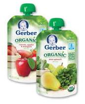 Four Gerber Organic Pouches Coupon