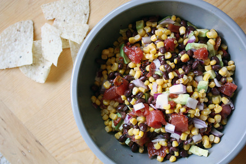 black bean, avocado + corn salad.