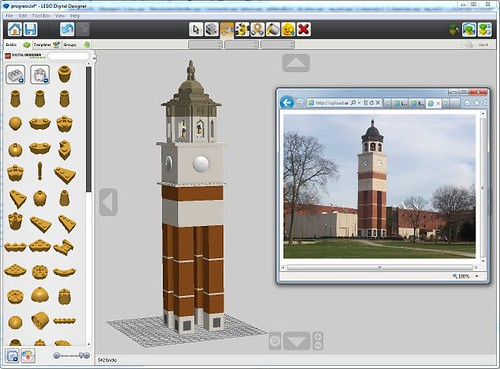 Still Plays With Bricks - A Lego fan blog: Alma Mater Tower in Lego Form