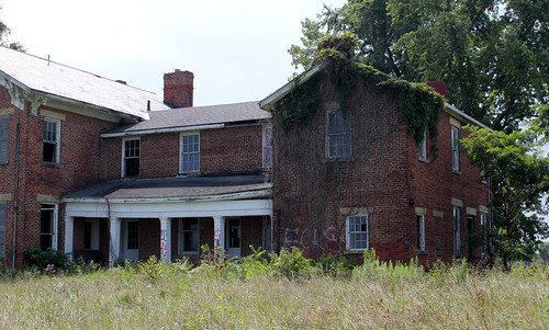 county ohio house brick abandoned greek farm south historic bloomfield revival italianate renick nrhp pickaway