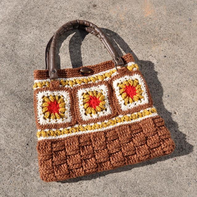 Crochet Granny Square Handbag : Crocheted Granny Square handbag Flickr - Photo Sharing!