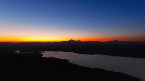 sunset lake ηλιοβασίλεμα λίμνη polifitos πολυφύτου