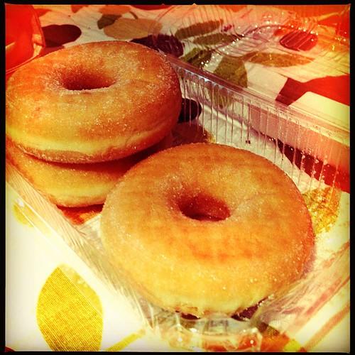Breakfast American style. #donut