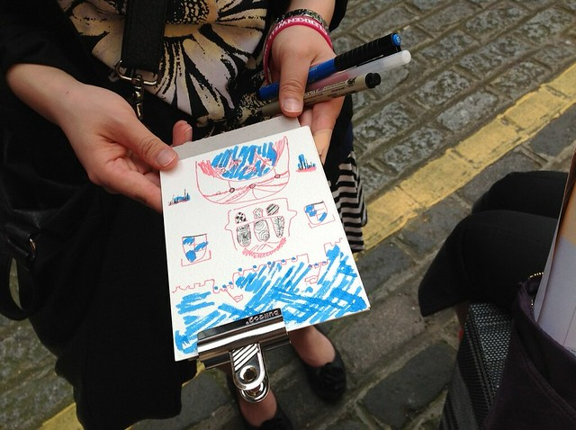 Postcards from Clerkenwell Walking / Drawing Tour at Clerkenwell Design Week 2012
