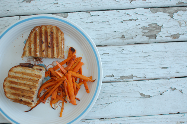 patty melts and carrot fries