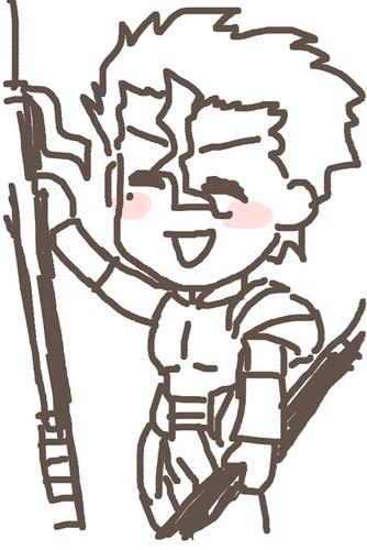 120526(2) - 聲優「恒松あゆみ」心血來潮畫出《Fate/Zero》所有角色的塗鴉、只有「久宇舞弥」發揮100%實力(笑) (11/18)
