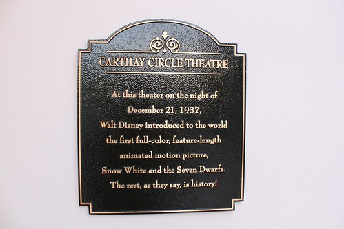 Carthay Circle Theatre plaque