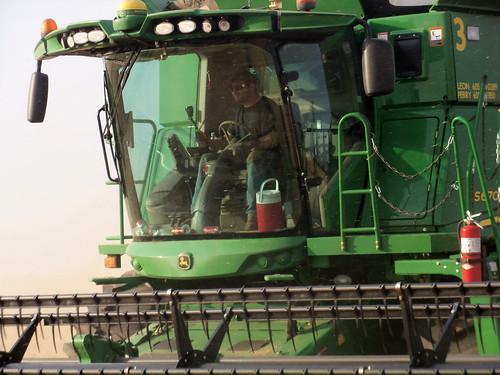 James working hard in his combine