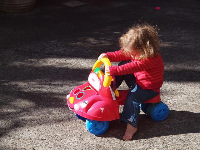 elodie on her little bike
